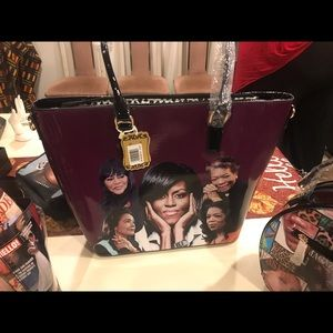African American XL icon purse 5 Queens